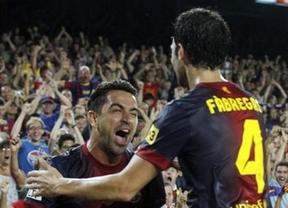 Xavi, sobre la 'senyera': 'Me parece fenomenal, representamos al Barça y Catalunya'