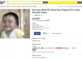 Esc�ndalo en la red por la 'venta' de un beb� para
