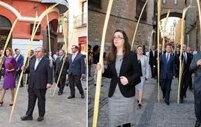 Abundante presencia política en la celebración del Domingo de Ramos en la catedral de Toledo