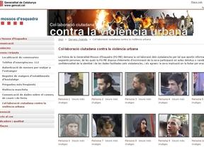 Los Mossos suben a su web las fotos de 68 'violentos' del 29M para identificarles