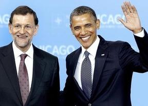Otra foto de Rajoy con Obama; esta vez no hubo charla