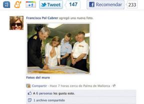 Dimite la candidata del PP que colgó en Facebook un fotomontaje de Chacón