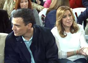Pedro Sánchez apoya a Susana Díaz pero recordando su sitio: