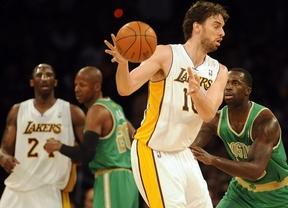 Gasol vuelve a destacar en los Lakers: victoria ante sus eternos rivales de los Celtics (97-94)