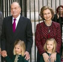 Familia Real, sin Urdangarín ni la infanta Cristina, acudieron a la Misa del Domingo de Resurrección en Palma
