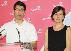 Caballero junto a Blanca Fernández