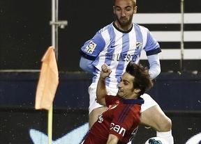 Balón de oxígeno para Schuster: el Málaga apuntilla a Osasuna y le mete también en problemas (0-2)