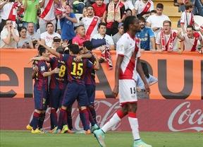 El Barça logra un cómodo triunfo ante el Rayo