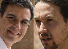 El 'guapo' tira contra el 'coletas': Sánchez cuela a Pablo Iglesias (el malo) en el debate socialista