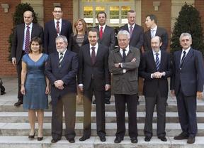 Zapatero, González y Rubalcaba, se hacen una foto progresista en la Moncloa