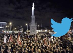 Twitter se ríe del recuento de manifestantes del Gobierno