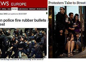 La prensa internacional retrata la represión policial de la jornada del 25-S