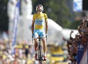 Nibali se exhibe en Hautacam y Valverde se baja de los puestos de podio