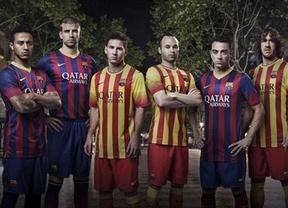 El campeón de la Liga española, más nacionalista: estrena 'senyera' en sus camisetas para 2013/14