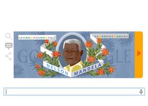 Google homenajea a Mandela