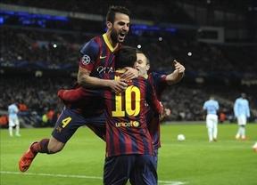 El Barça deja encarrilado el pase a cuartos con su victoria ante el City (0-2)