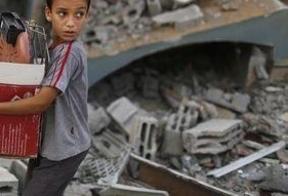 El presidente de la Autoridad Palestina declara Gaza como zona catastrófica y pide corredores humanitarios a la ONU