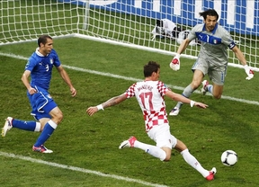 Eurocopa: Italia y Croacia aceptan las tablas (1-1)