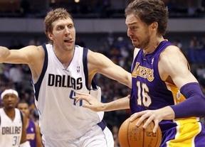 Tampoco los campeones pueden con el mejor Pau: los Lakers derrotan a Dallas (112-108)