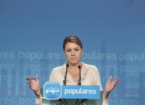 Cospedal destaca el 'esfuerzo' de Rajoy por 'revalorizar' las pensiones y tacha de 'caradura' al PSOE