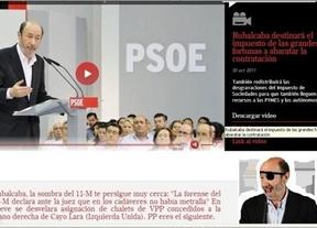 Anonymous 'hackea' la web de Rubalcaba e insinúa que tuvo algo que ver en el 11-M