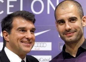 Laporta espera que Guardiola, su salvador del embargo económico