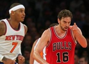 Pau Gasol ya apunta a un nuevo anillo de la NBA: debuta con gran actuación en la paliza de 'sus' Bulls a los Knicks (80-104)