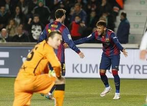 El Elche aguanta un tiempo pero finalmente se rinde y el Barça le hace encajar un set (0-6)