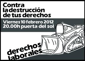 'Revolución' social por la nueva reforma laboral: la Puerta de Sol como punto de encuentro