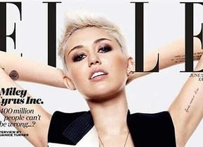 Miley Cyrus protagoniza la portada de 'Elle' pero no habla de su boda