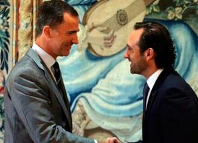 Felipe VI estrena su agenda política en Mallorca recibiendo al presidente balear José Ramón Bauzá