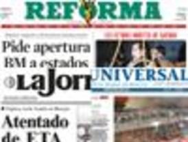 Atentado de ETA en El Universal y La Jornada