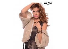 Elena Valencia posa para la firma Di Piú Milano