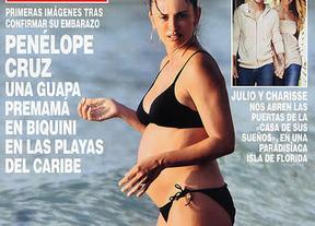 Penélope Cruz luce embarazo en la portada de 'Hola!'