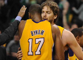 Gasol se acerca a otro anillo: los Lakers, a una victoria de la segunda ronda de play offs