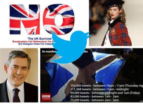 El 'No' de Escocia invade Twitter