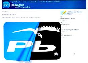 Anonymous se vengan de la denuncia del PP 'hackeando' su web de Pontevedra