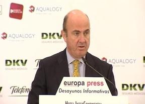 Guindos está 'encantado' como ministro y dice que aún no se creado la nueva figura para presidir el Eurogrupo