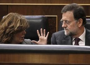 Soraya Saénz rebaja el miedo tras mencionar Rajoy la 'previsión' de huelga general