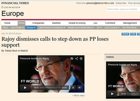 'New York Times', 'Financial Times', 'Wall Street Journal', 'BBC'...: lo más granado de la prensa internacional habla de Rajoy