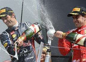 Alonso cae frente a Webber en las últimas vueltas en Silverstone