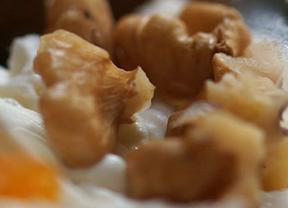Las recetas de Los Galayos: Pincho de Philadelphia con toque de Queso azul y frutos secos