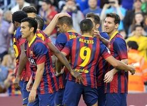 El Barça le endosa un 7-0 al Osasuna para meter miedo al Madrid antes del clásico