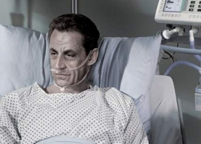 Una campaña proeutanasia coloca a Sarkozy en el lecho de muerte