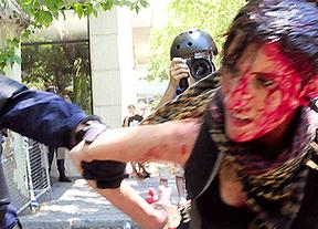 Cargas policiales contra los mineros