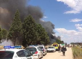 Extinguido el incendio declarado en el asentamiento chabolista de Olías del Rey