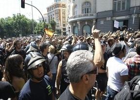 Los funcionarios colapsan Madrid como 'aperitivo' a la marcha nacional de las 20:00h