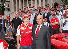 Botín presenta junto a Fernando Alonso un proyecto en Columbia sobre tecnologías de automoción