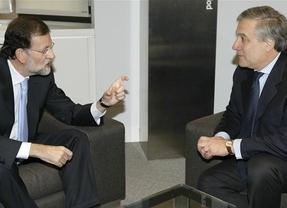 Tajani hace de 'portavoz' de Rajoy
