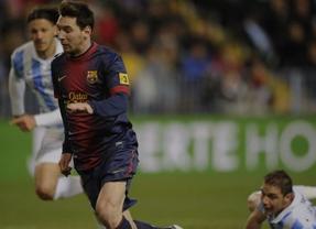 Copa: el Barça sufre pero acaba imponiéndose a un 'Euromálaga' que le plantó cara (2-4)